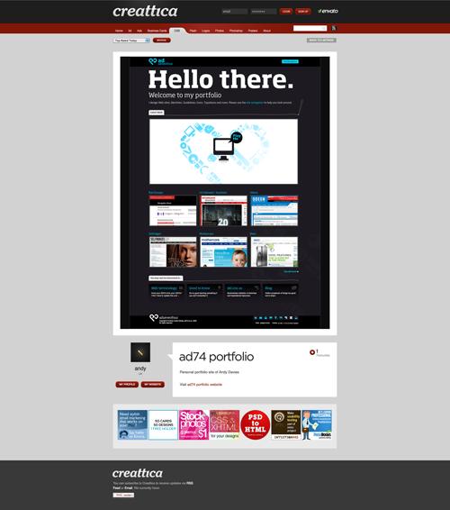 ad74 portfolio - CSS - Creattica_1255426819286